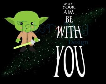 Yoda Bathroom Wall Art (instant download)