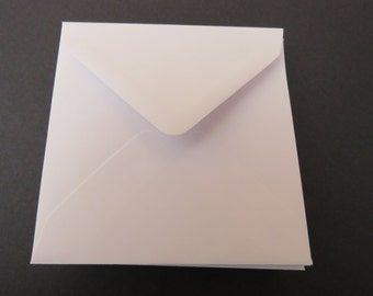 White square envelopes - 5 inches x 5 inches / 140mm x 140mm  diamond flap gummed (for 10)