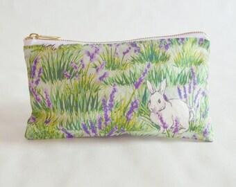 Bunny and Lavender Pencil Case