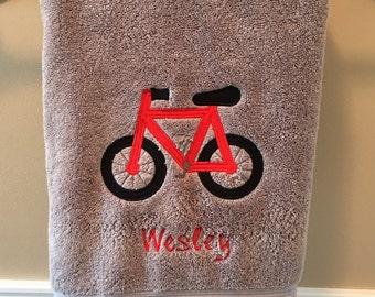 Personalized Bike Bath Towel