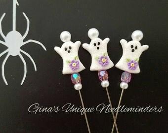 Purple Ghost Counting Pin, lapel pin, marking pin
