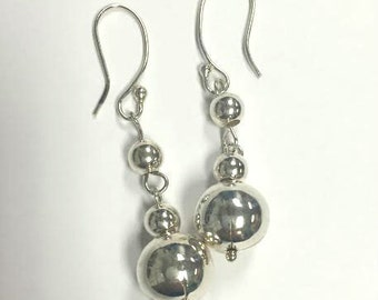 Sterling Silver Dangle Earrings 2 Inches