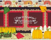 Scrapbook Page Kit Fall Pumpkin Patch Boy Girl Baby 2 page Scrapbook Layout Kit 61
