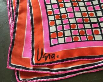 vintage Vera scarf // 50s 60s pink silk scarf