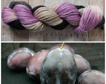 Hand Dyed Superwash Bulky Yarn - Plum