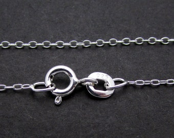 """1 Pc, 18"""", Sterling Silver Chain"""