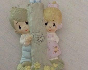 Vintage Precious Moments pin......1980s.....I love you tree
