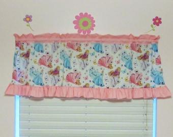 Princess curtains / ruffle / polka dot / valance