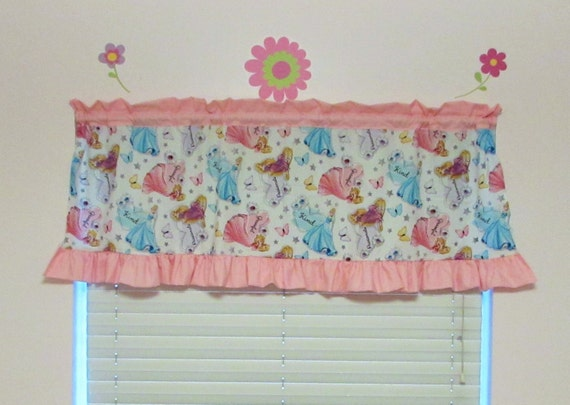 Princess curtains / ruffle / polka dot / valance