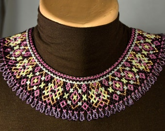 Beaded NECKLACE Ethnic Handmade Jewelry