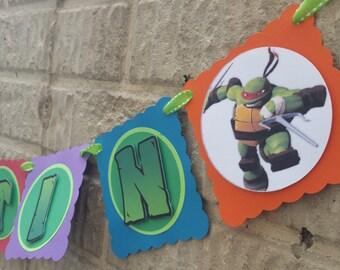 Teenage Mutant Ninja Turtles Birthday Banner