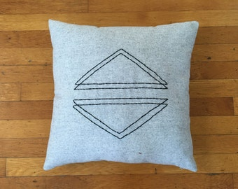 Seeing Double Triangles Pillow