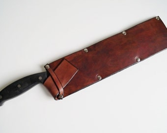 Leather Knife Cover Saya Knife Cover Handmade Natural Leather Knife Sheath Chefs Knife Cover Knife Case