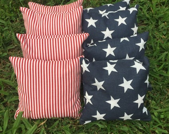 Cornhole Bags, Patriotic, Stars and Stripes