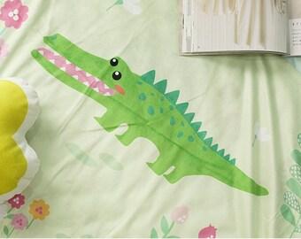 Microfiber Minky Fabric Crocodile By The Cut