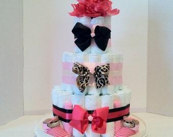 Diaper Cake For A Girl