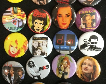 001 NewWave New Wave Nu Romantic Button, Pin, Badge