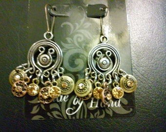 Earrings, interessting mixed metals with sets