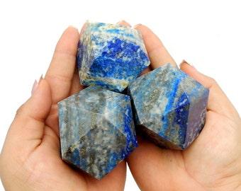 Lapis Lazuli Cuboctahedron - Reiki - Metaphysical - Sacred Geometry - Stone Shapes (RK111B8)