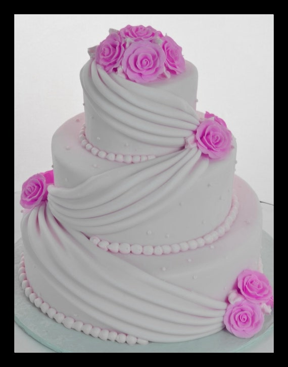 wedding cake fake tiers three tier fondant faux wedding cake faux by 22589