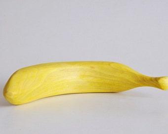 Banana wooden Banana stained banana handmade hand carved