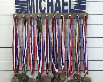 Personalized Swimming Medal Display - 12 or 20 inch