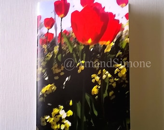 "Valentines ""Poppies"" A6 notebook Valentine teacher gift present Christmas Remembrance"