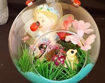 Cute 8cm Glass Terranium Bauble Fairy Garden