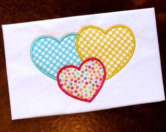 Heart Applique Design Embroidery