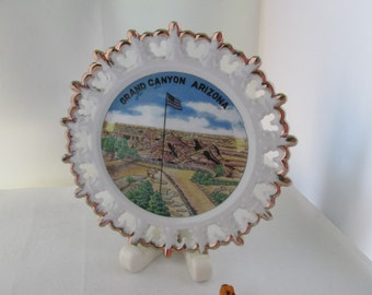 Grand Canyon Arizona Souvenir Plate Arizona state plate ceramic souvenir Grand Canyon souvenir plate Grand Canyon AZ Arizona plate