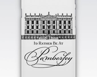 "iPhone 6s Case, iPhone 6 Plus Case, iPhone 5s Case, iPhone SE Case, iPhone 5c Case, iPhone 7 case, Jane Austen ""I'd rather be at Pemberley"""