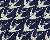 Bluebird by Cotton and Steel House Designer - Fat Quarter- Flock in Indigo