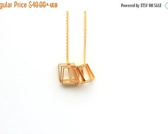 SUMMER SALE Geometric Rectangles necklace, bridal necklace,daintynecklace,gold necklace, personalized necklace, tiny necklace