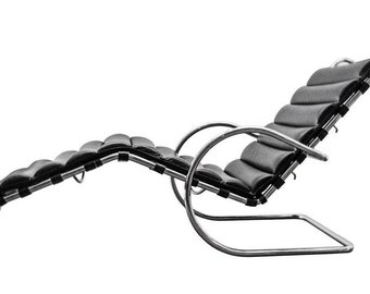 Mid Century Ludwig Mies Van der Rohe design MR Adustable Lounge Chaise in leather and chrome  sc 1 st  Etsy : mies van der rohe chaise lounge - Sectionals, Sofas & Couches