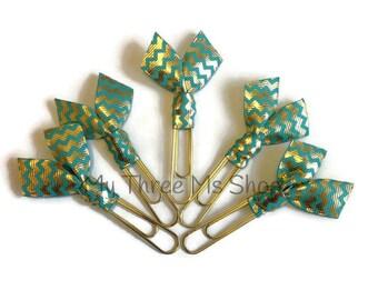 Planner Ribbon Bookmarks, Chevron Bookmarks, Filofax paperclips, Planner Organization, Book Club gift, Planner Bookmarks, Daily Planner