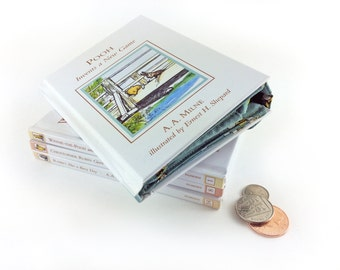 Winnie -the-Pooh Coin Purse, AA Milne, Pooh invents a new Game, Book coin purse, Purse made from a book, Purse made out of a book