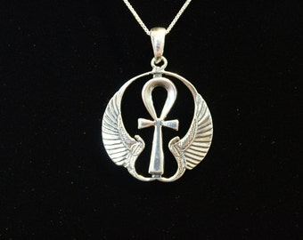 Sterling Silver Winged Ankh