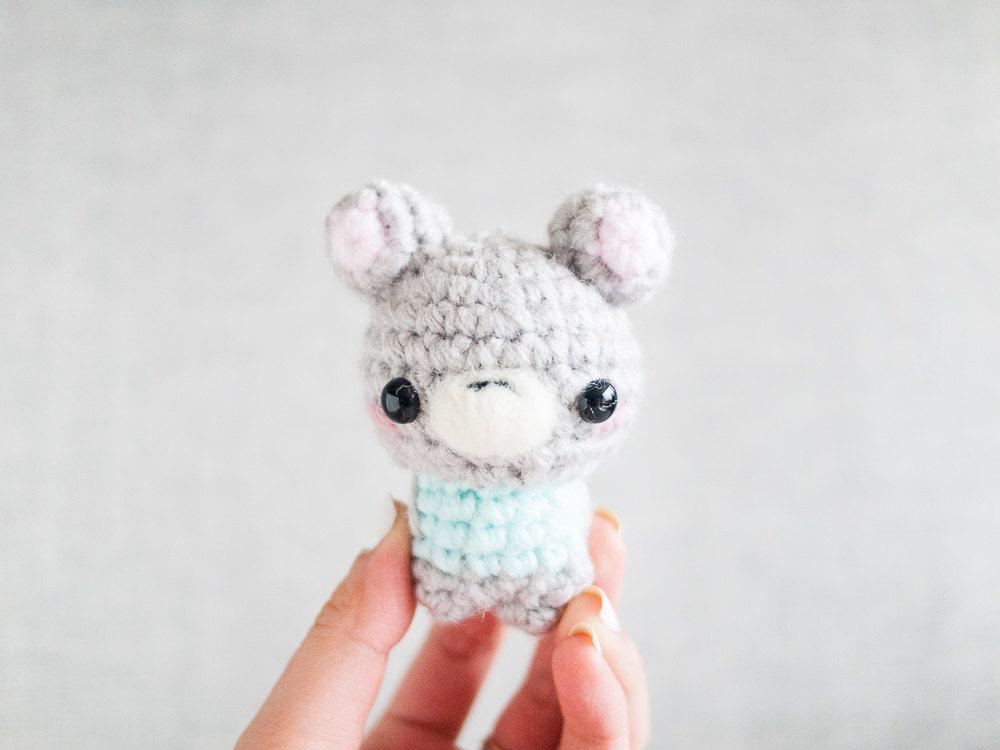 Amigurumi Bear Stuffed Plush Keychain Kawaii Plush Planner