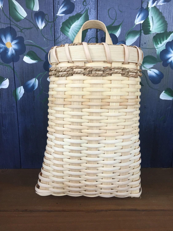 Handmade flower basket : Handmade basket wall flower seagrass hanging