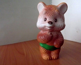 "Vintage soviet rubber toy ""Bruin"". Made in the USSR"