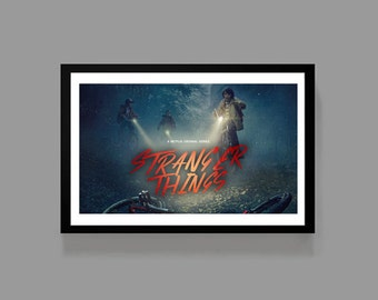 Stranger Things Poster Print - TV Movie Cult Classic Sci Fi Retro 80's