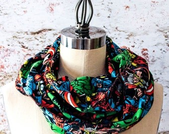 Avenging Superheroes Collage Infinity Scarf