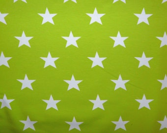 Fabric - jersey fabric - Lime green star print knit