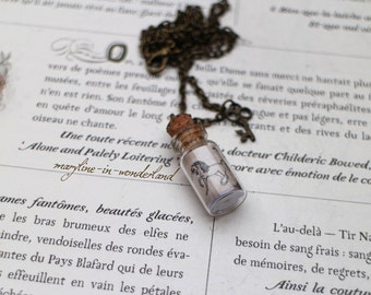 "Necklace vial ""tear of Unicorn"""
