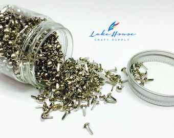 1,000 Mini Metal Fasteners. Scrapbook Fasteners. Paper Fasteners. Paper Craft Fasteners. Framing Fasteners.