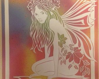 Sold ..Original paper cut-Fairy