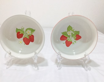 Strawberry Bowl Set of 2  made in japan
