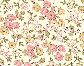 Petals - Viney Rose Cream/Pink (23073-EP) Quilting Treasures Fabric Yardage