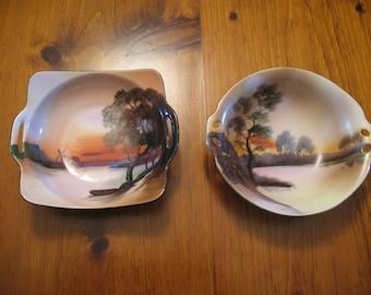 Vintage Hand Painted Noritake Bowls