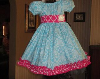 Girls Spring Dress,  Girls dress, girls clothing, girls summer dress, girls Easter dress, birthday dress, sizes 2T, 3T, 4T, 5, 6, 7, 8, 10